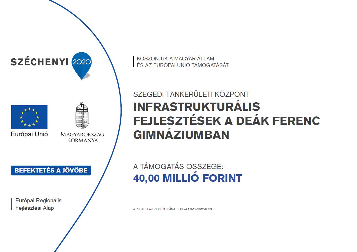 Infrastrukturális fejlesztések a Deák Ferenc Gimnáziumban