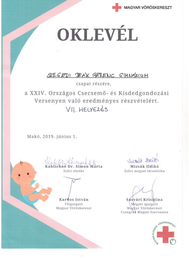 24. Országos Csecsemő- és Kisdedgondozási verseny